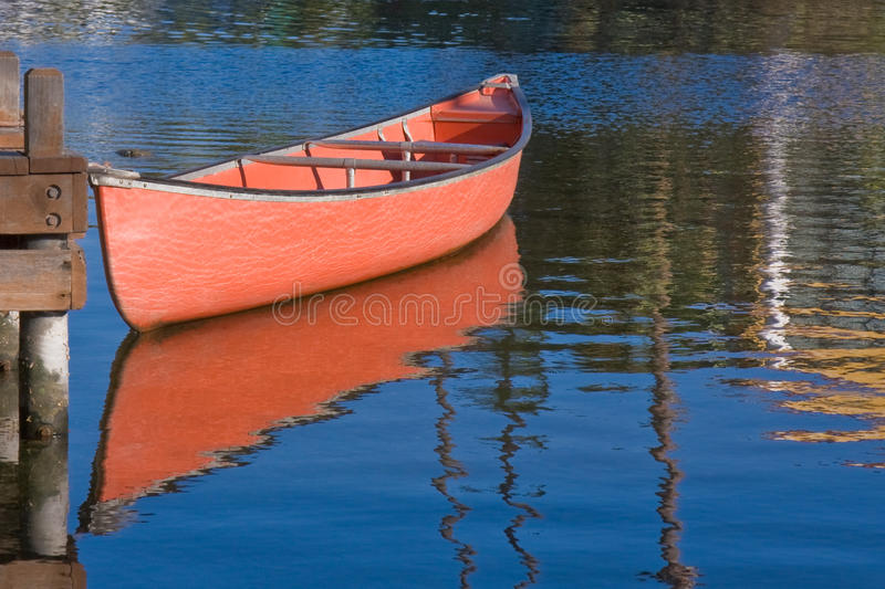 Download Red Boat and Reflection stock image. Image of green, boat - 10846925