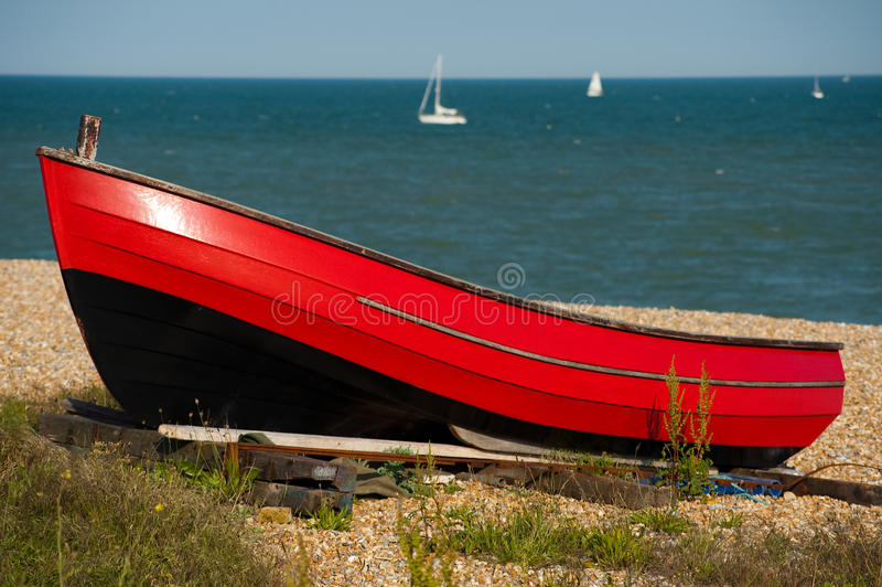 Download Red Boat Resting In The Sunshine Stock Photography - Image: 14681802
