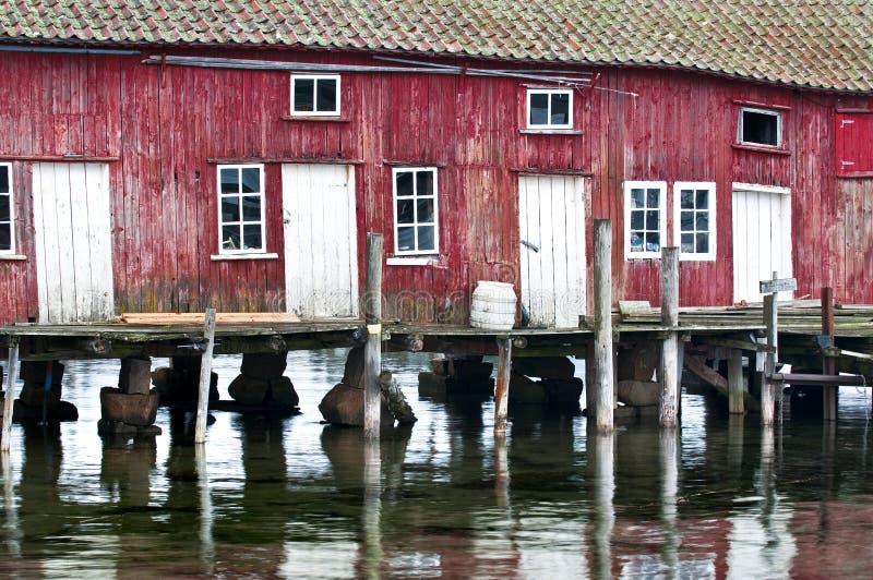 Red_Boathouse fotografia de stock