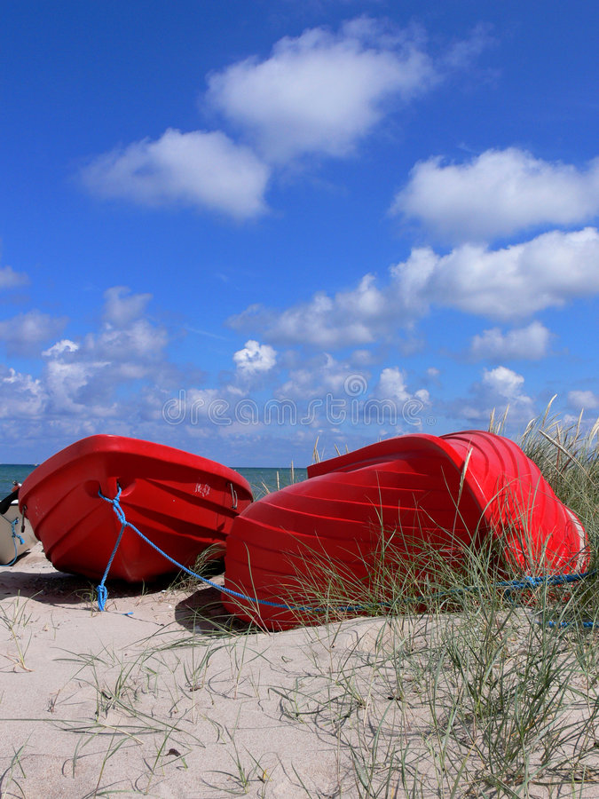 Download Red Boats on Beach stock photo. Image of fishing, ocean - 2796882