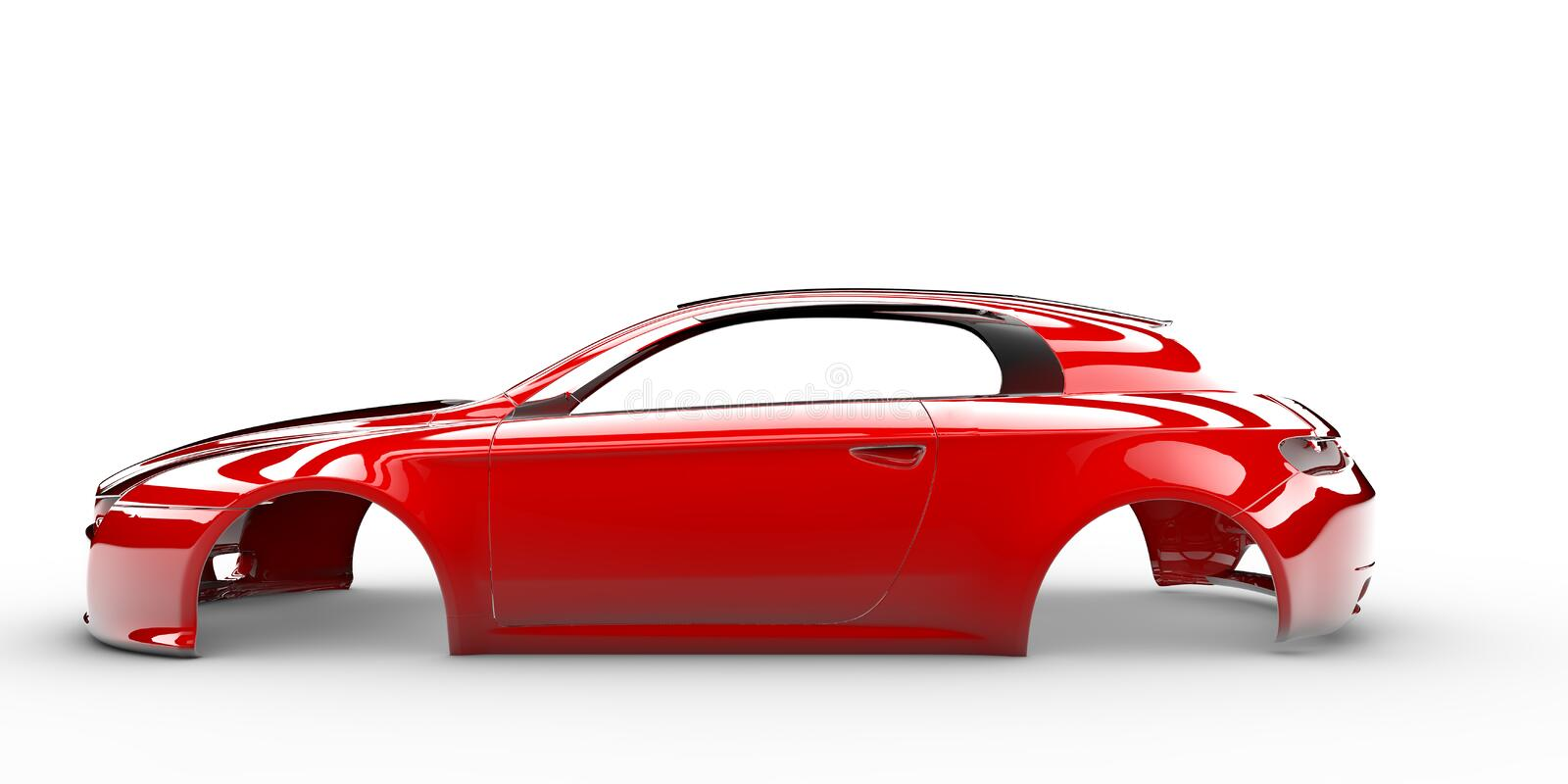 Download Red body car stock illustration. Illustration of material - 36983529