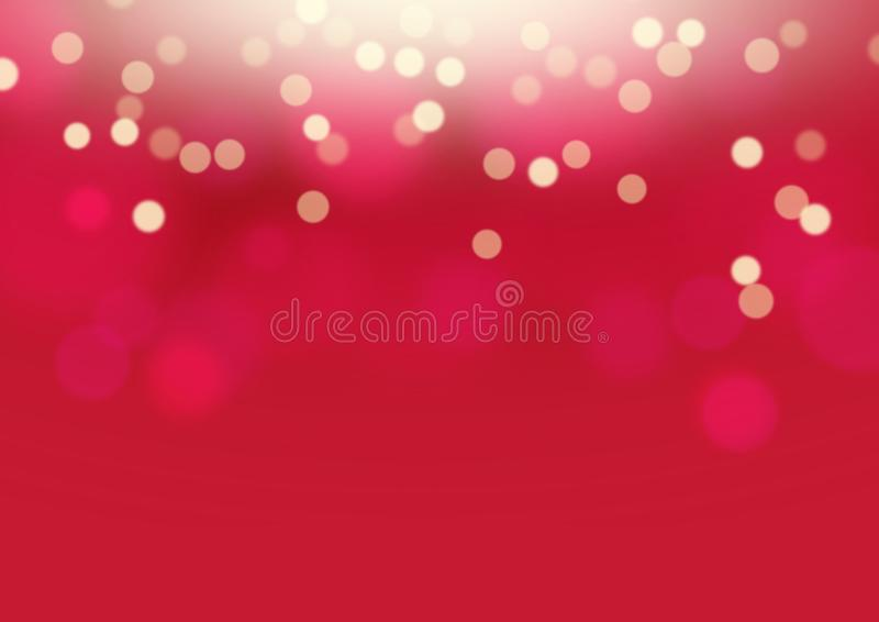 Red bokeh background. Abstract blur stock photo