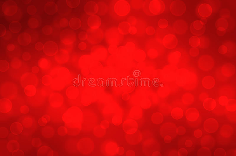 Red bokeh on a dark background Christmas stock image