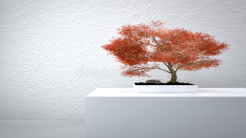 Download Red Bonsai stock illustration. Image of growth, commode - 39247619
