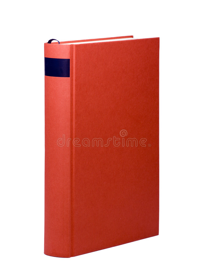 Red book with blank cover stock photo