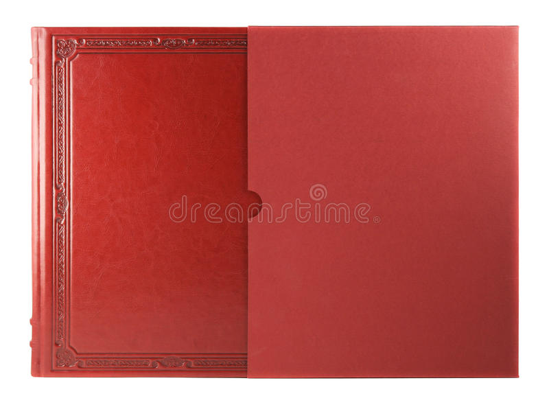 Red book with blank hardcover royalty free stock photos