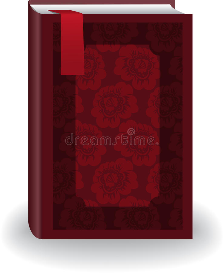 Download Red book with a bookmark stock vector. Image of isolated - 18256168