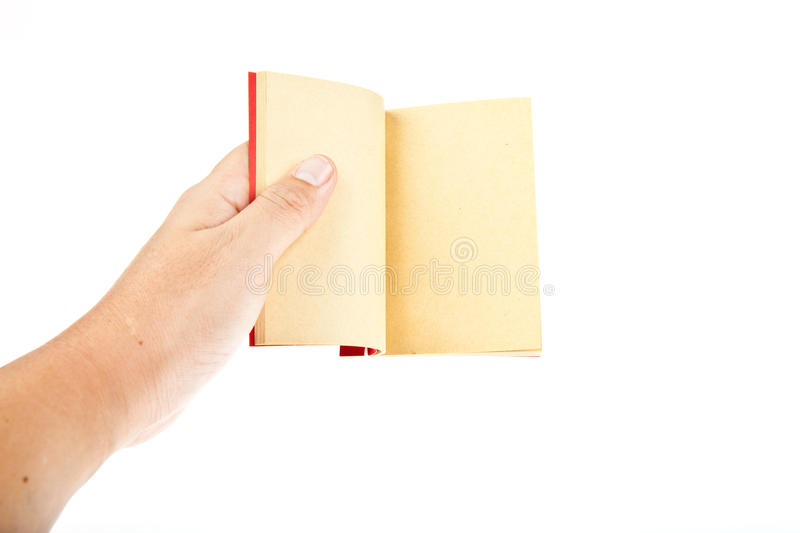 Download Red book open with hand stock photo. Image of antique - 20969018