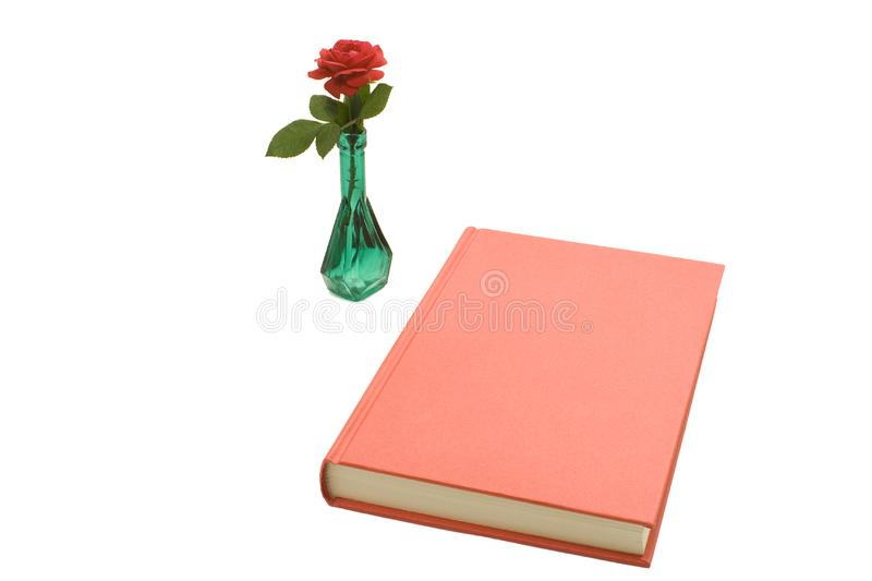 Red book and rose royalty free stock photography