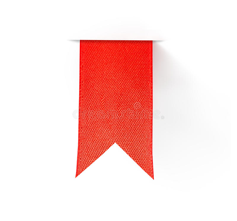 Red bookmark ribbon stock photo