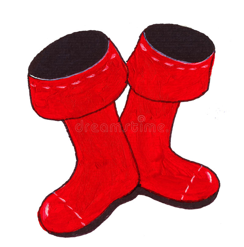 Download Red boots stock illustration. Image of background, leather - 28678710