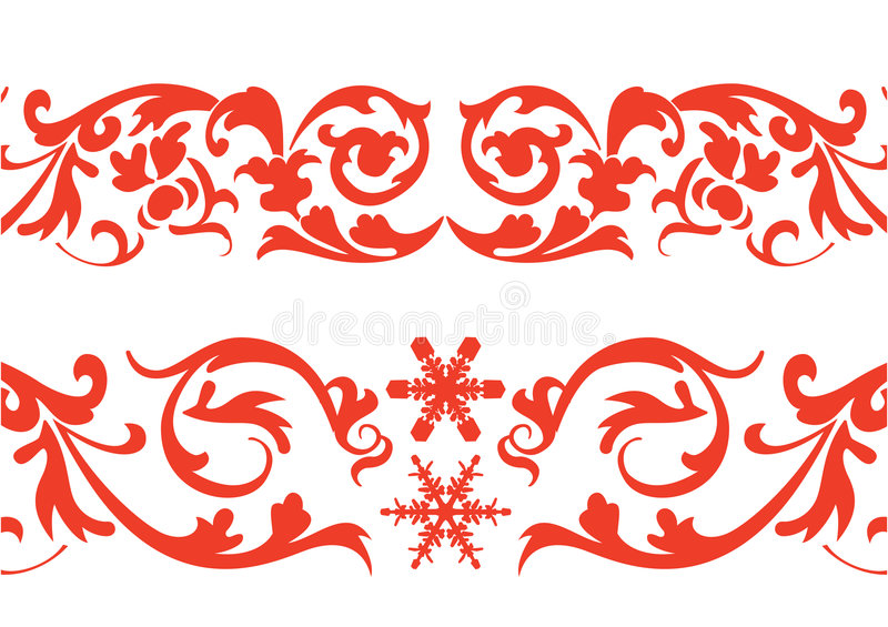 Red border royalty free illustration