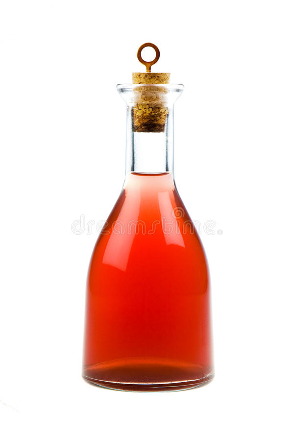 Red bottle royalty free stock image