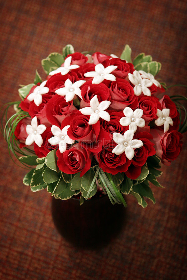 Red bouquet stock photography