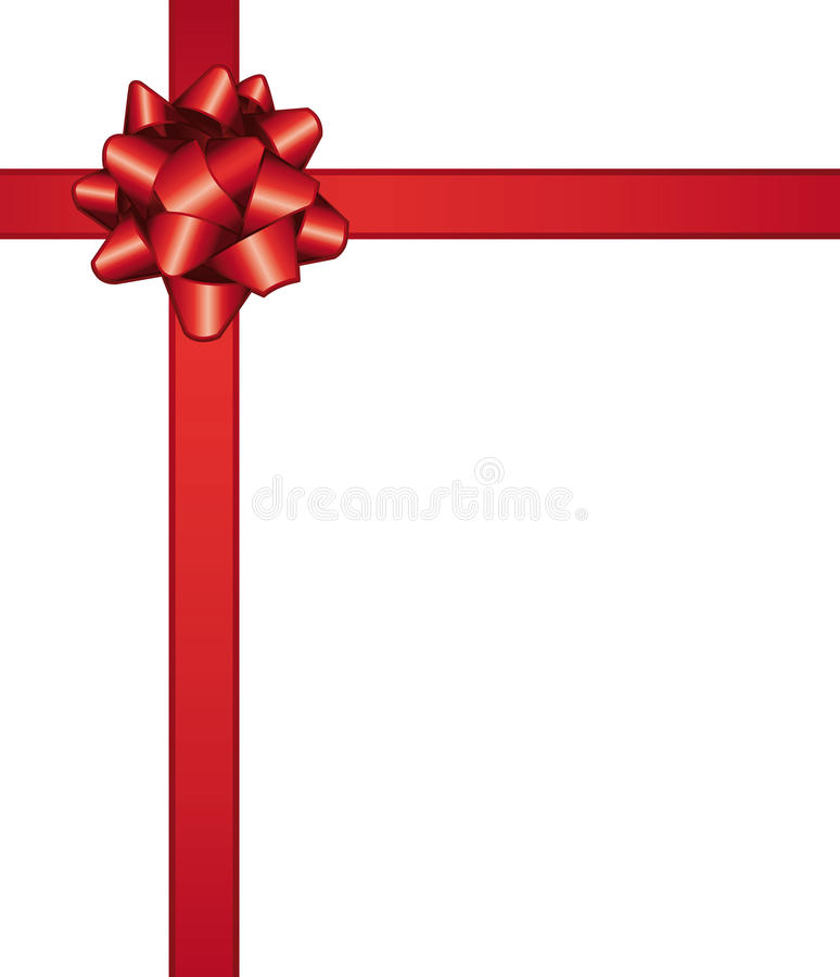 Download Red bow stock vector. Image of ornament, color, package - 17119328