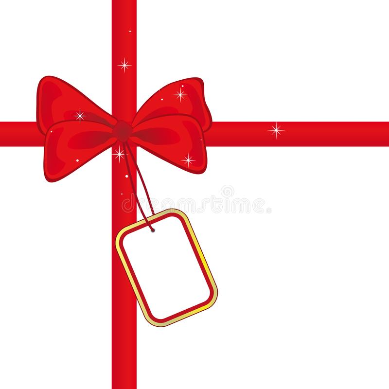 Red bow with stock photography