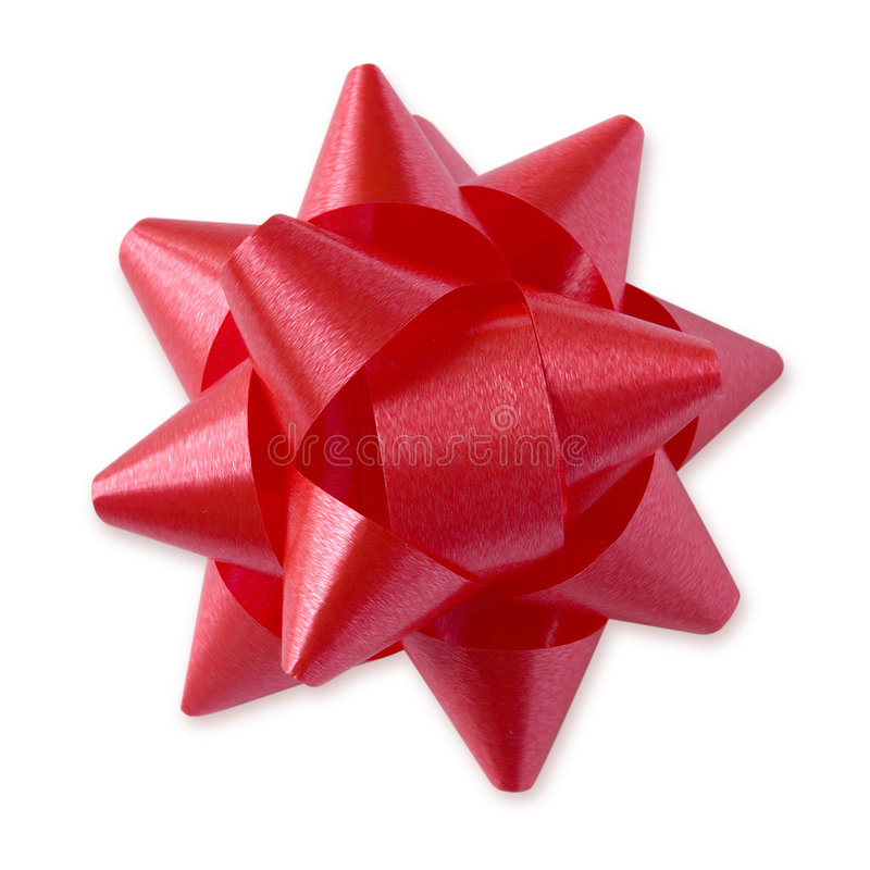 Red Bow (+clipping path) stock photo