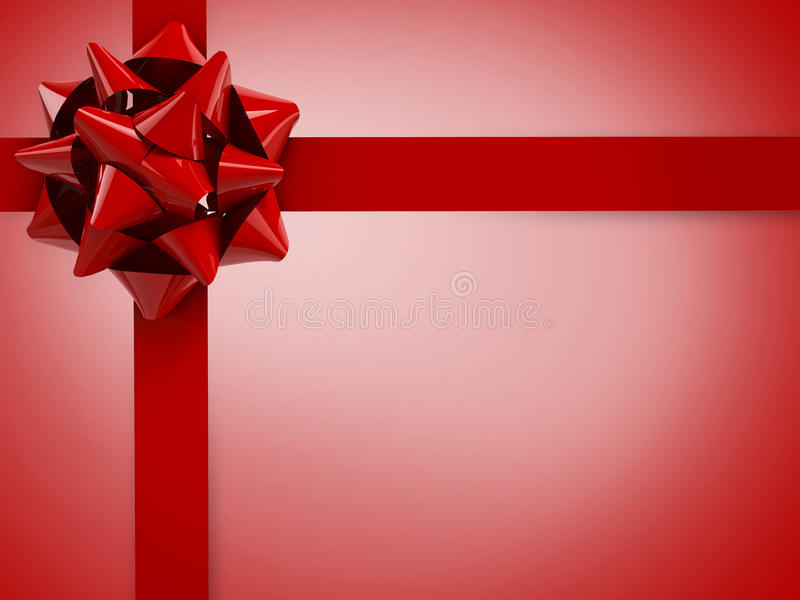 Red bow gift stock photo
