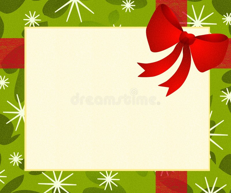 Download Red Bow Gift Wrap Background Stock Illustration - Image: 3473160