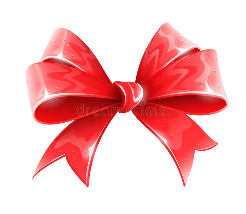 Red bow for holiday gift decoration royalty free illustration