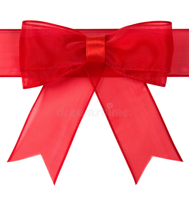 Download Red bow isolated stock photo. Image of isolated, card - 20978418