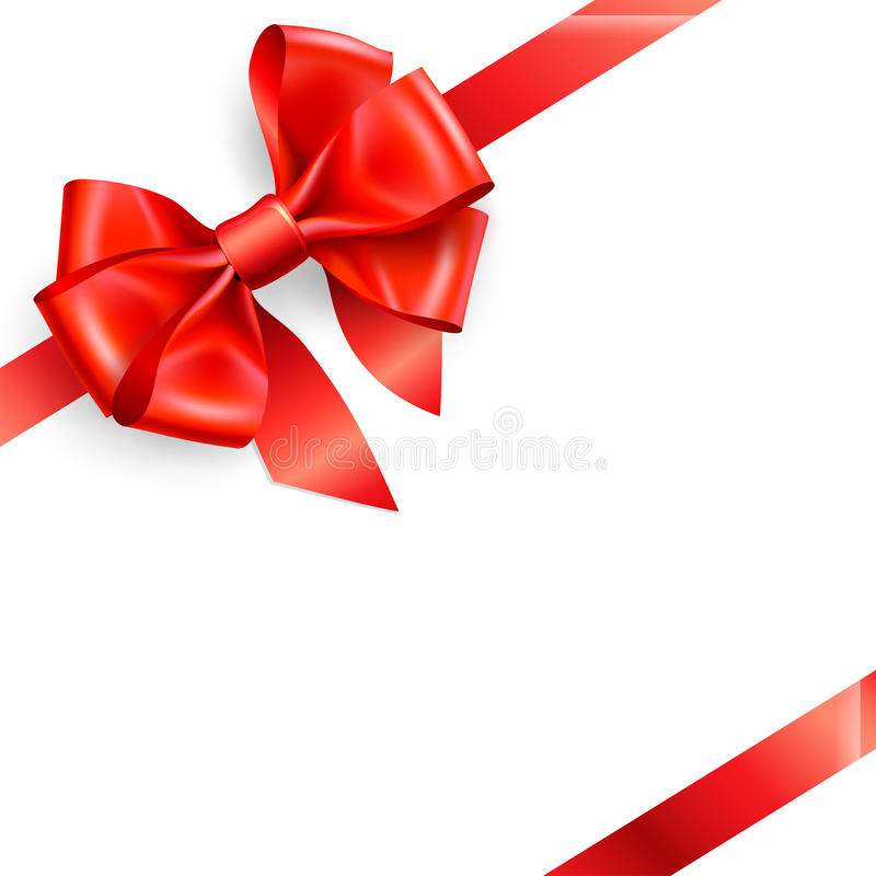 Download Red bow isolated on white stock vector. Image of abstract - 18309560