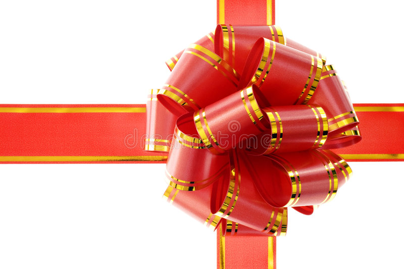 Download Red bow isolated on white stock illustration. Illustration of gold - 6372028
