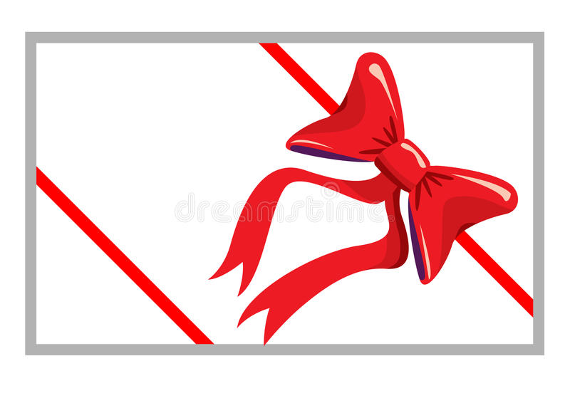 Red bow isolated on white stock photos