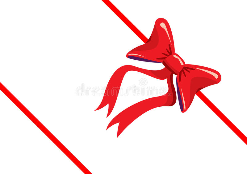 Red gift, ribbon, bow royalty free stock photo