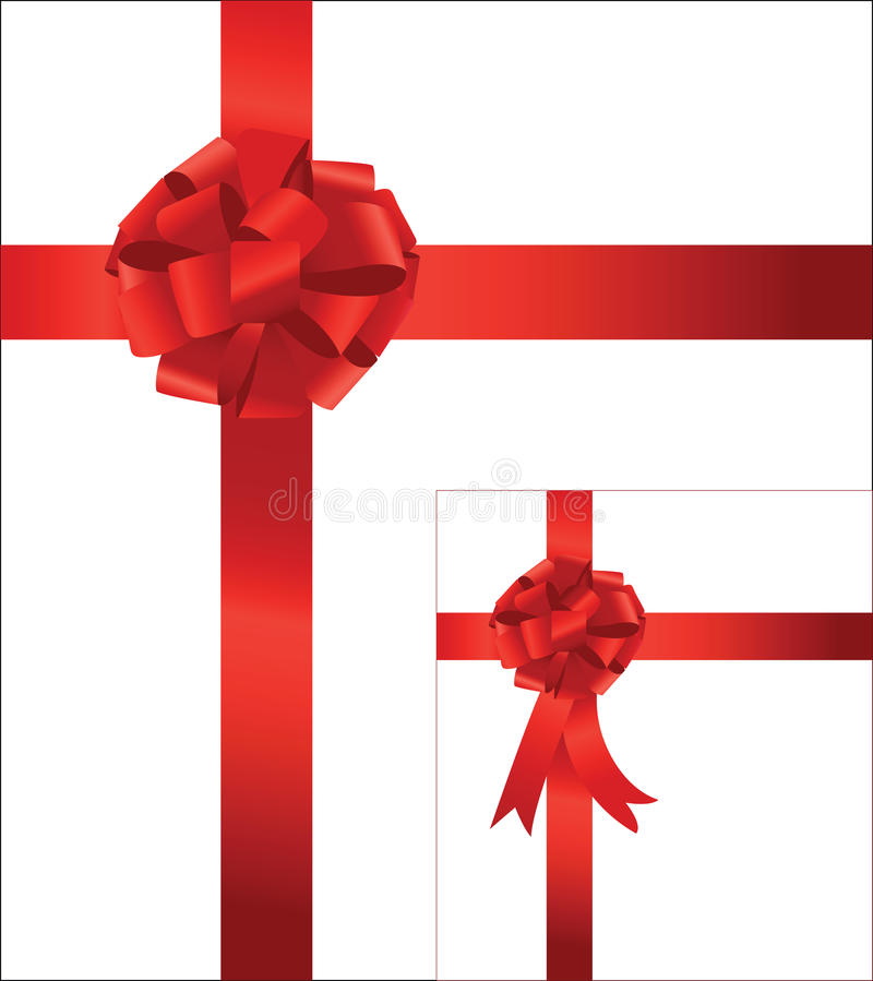 Red Bow With Ribbon Stock Images
