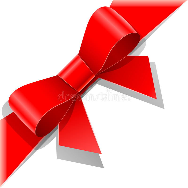 Download Red bow with ribbon stock vector. Image of object, component - 22785492