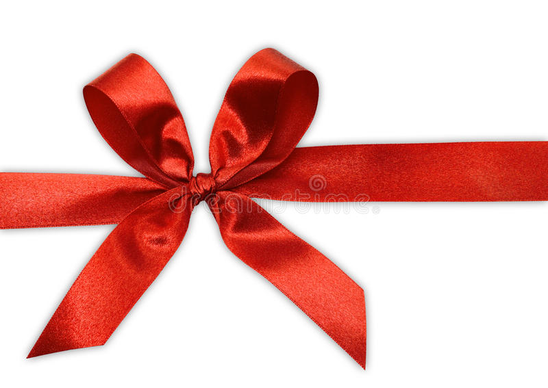 Red Bow On A Tape Royalty Free Stock Photography