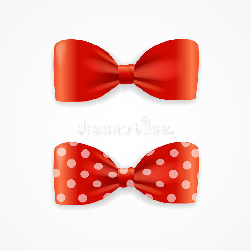Free Red Bow Tie Set. Vector Royalty Free Stock Photos - 66327898