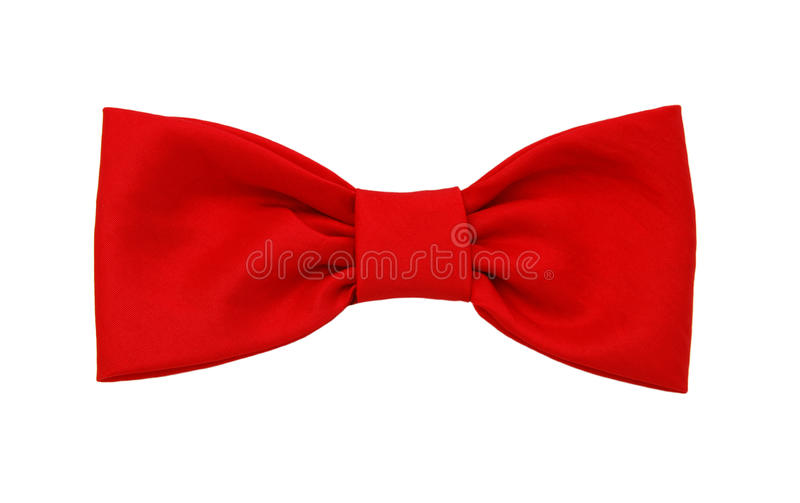Red bow tie royalty free stock photos