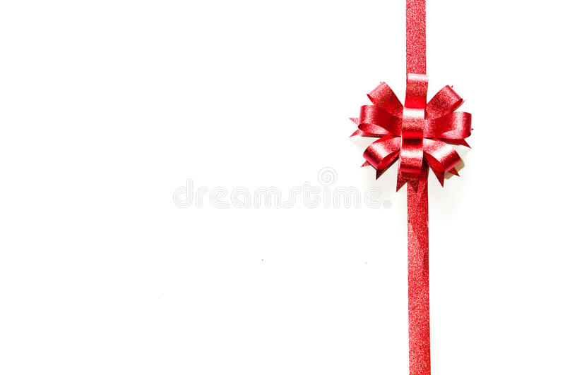 Download Red bow on white stock photo. Image of celebration, decoration - 17049454