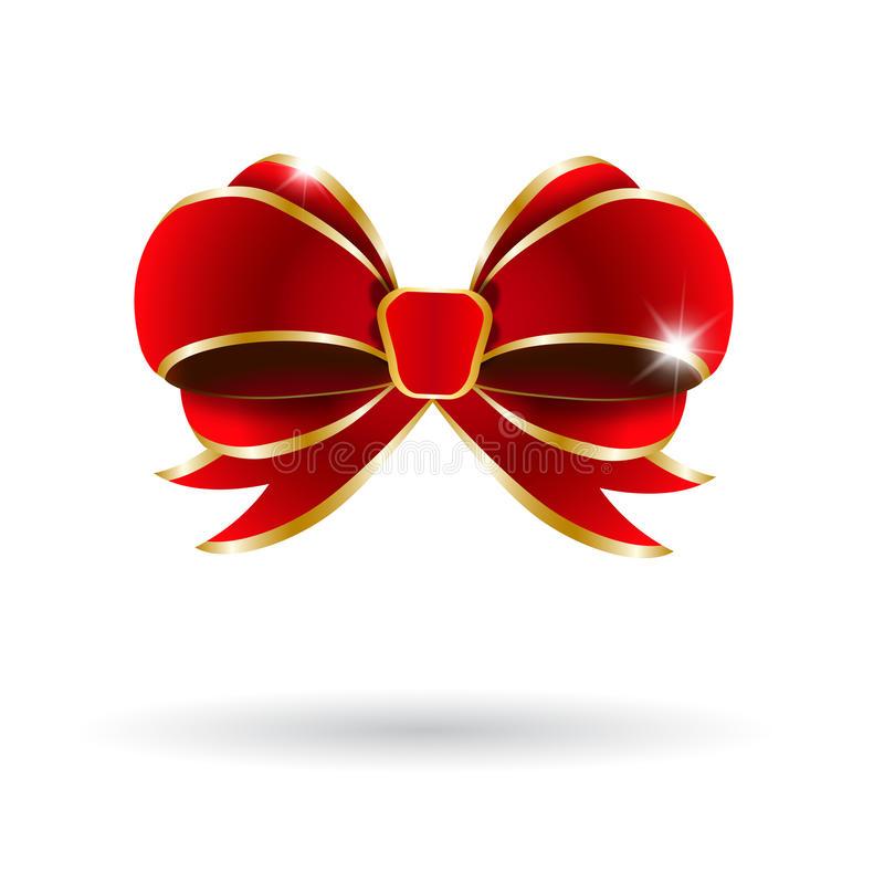 Download Red Bow On A White Background. Stock Photo - Image: 27491550