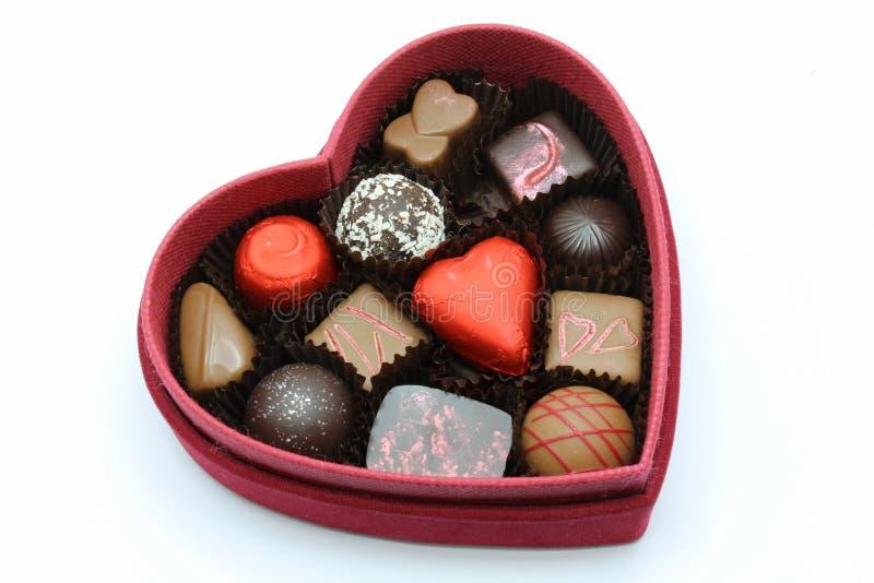 Red box of valentine stock photo