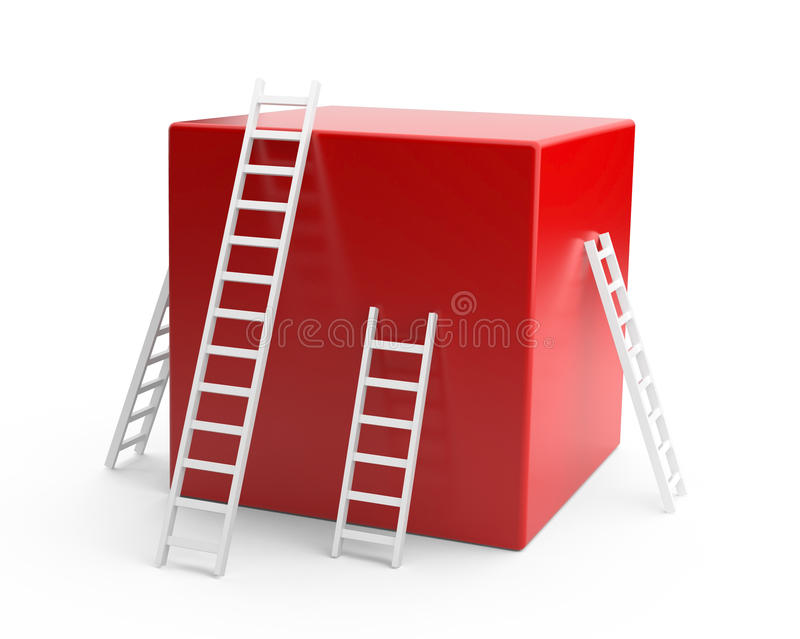 Download Red Box With A White Ladder. Stock Images - Image: 25527514