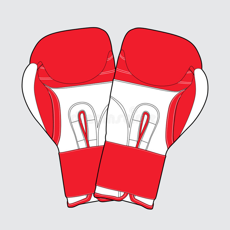 Download Red boxing gloves stock vector. Image of fighter, isolated - 24452363