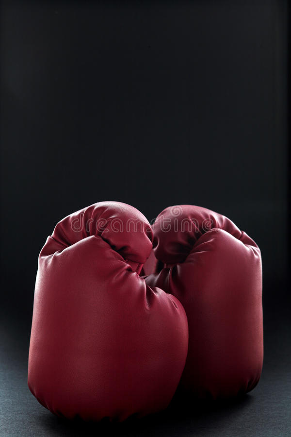 Download Red boxing gloves on black stock photo. Image of color - 19719996