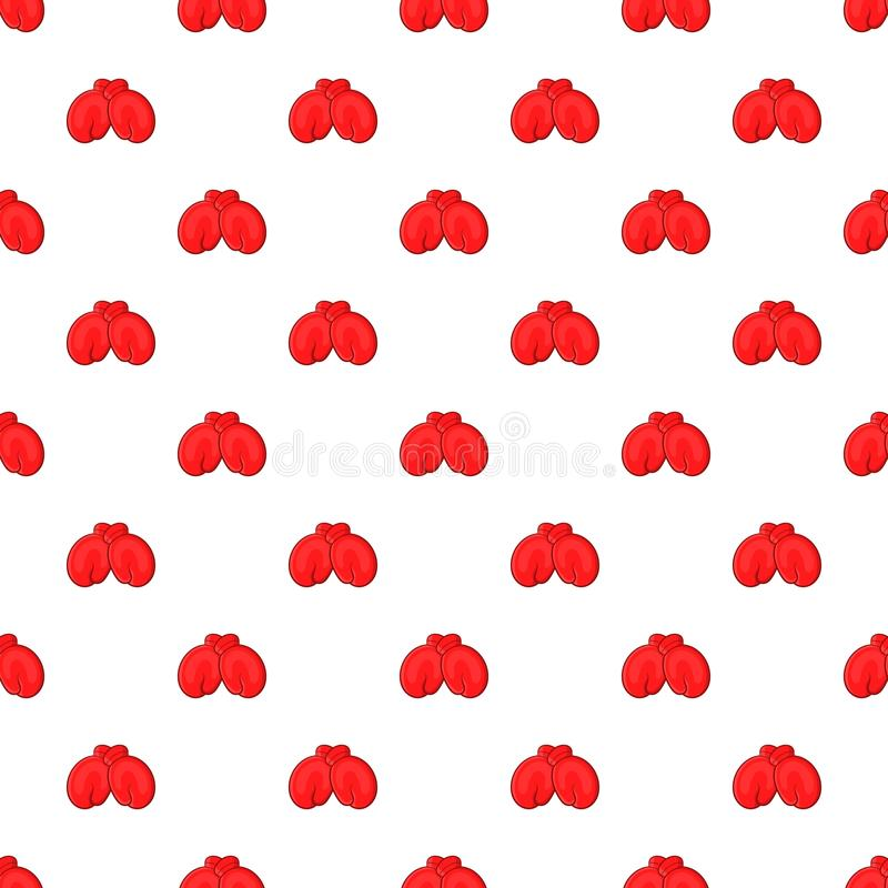 Red boxing gloves pattern, cartoon style. Red boxing gloves pattern. Cartoon illustration of red boxing gloves vector pattern for web vector illustration