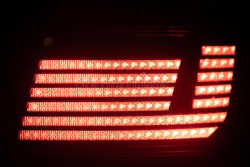 Red brake light. Close-up view royalty free stock images