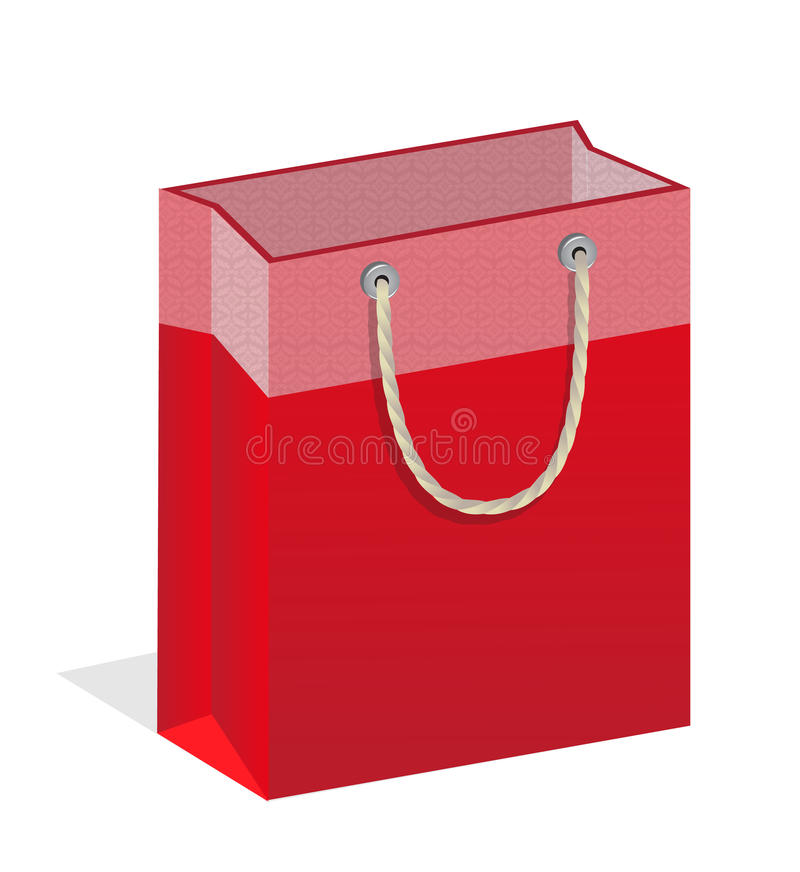 Red branded bags royalty free illustration