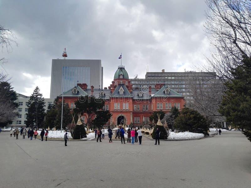 Red brick building Supporo Hokkaido royalty free stock photography