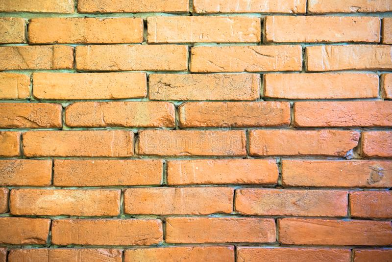 The background is red brick. royalty free stock photography