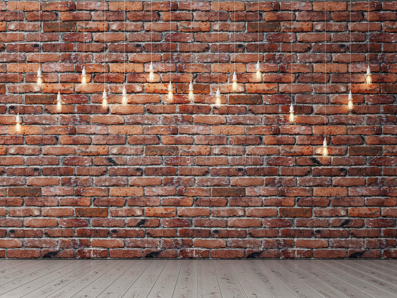 Red brick empty wall with light bulbs background stock illustration download red brick empty wall with light bulbs background stock illustration illustration of panel aloadofball Images
