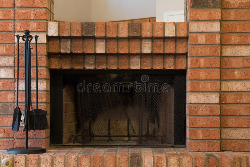 Red brick fireplace stock image image of fireplace home 50252359 - Chimeneas ladrillo visto ...