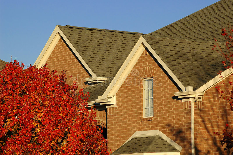 Download Red Brick Home Detail stock image. Image of roof, terrain - 48349