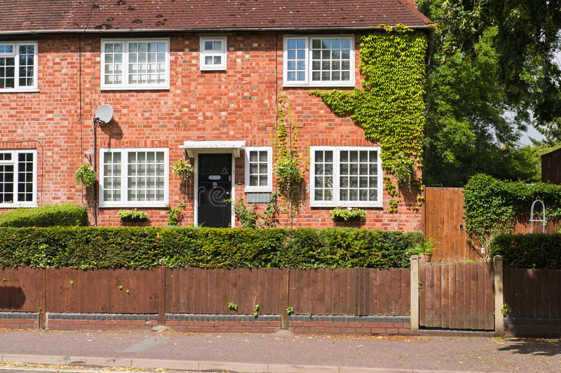 Red brick house royalty free stock photography
