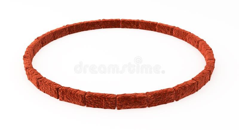 Red Brick Ring royalty free illustration